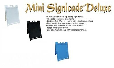 Mini Signicade Deluxe Sign Frame Portable Sign Holder For Vinyl Graphic Print