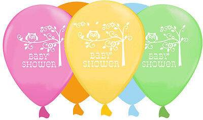 HAPPI TREE BALLOONS [6]  - Baby Shower Party Supplies Unisex, Owl, Helium ](Owl Baby Shower Supplies)