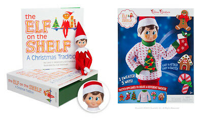 The Elf on the Shelf® Boy Scout Elf  with Christmas Switcheroo Costume Bundle