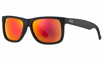 Ray-Ban Sunglasses Justin 4165 622/6Q Matt Black Red Mirror Large 55mm