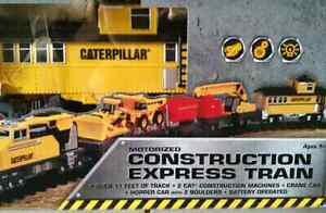 CAT Motorized Construction Express Train Set Model