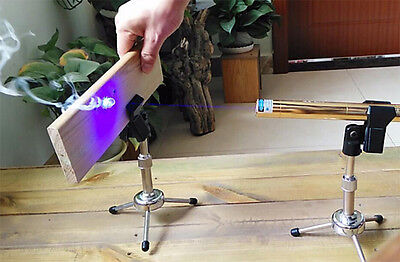 High Power 450nm Blue Laser Pointer Pen Adjustable Focus Burn Paper Carve Wood