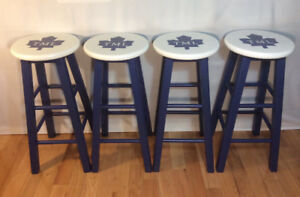 4 Toronto Maple Leaf Bar Stools