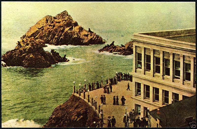 c.1909 CLIFF HOUSE & SEAL ROCKS~SAN FRANCISCO~NEW 1975 PHOTOLITHOGRAPHY POSTCARD