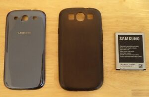"""Samsung Galaxy S3 - Batterie - Couvercle """"neuf"""" - Étui silicone"""
