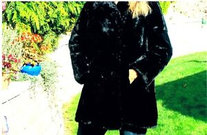 Ladies black lamb COAT
