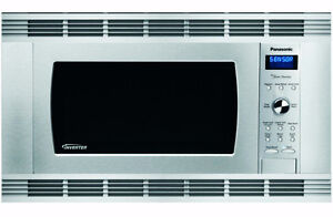 Panasonic microwave oven with Trim Kit, stainless steel, new in