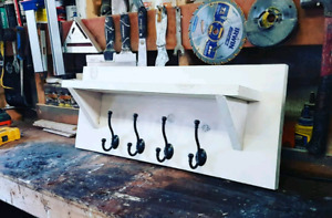 Custom built coat rack with 4 hangers
