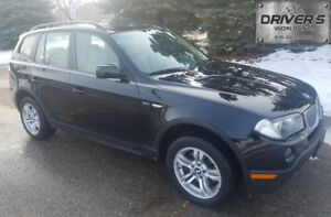*$4950*2007 BMW X3 3.0i AWD BLACK ON TAN* PANO ROOF ** AS  IS