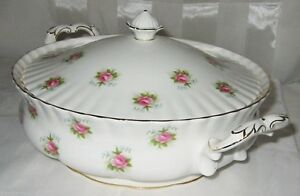 Royal Albert China - Forget Me Not Rose - Covered Server