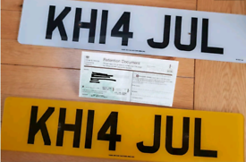 Private Number JUL with Plates, Retention Slip and Fees Paid
