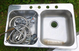Kitchen Sink - Very Good Condition, plus stainless steel Faucet