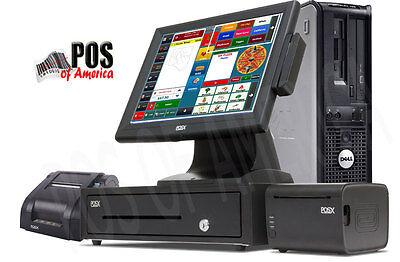 One Station Premium Restaurant Bar Retail Pos System With Amigo V8 Software New