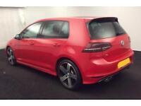 2016 RED VW GOLF R 2.0 TSI 300 4X4 PETROL 5DR HATCH CAR FINANCE FR £75 PW