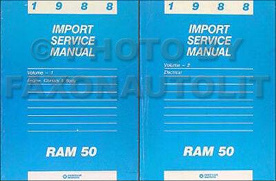 1988 Dodge Ram 50 Pickup Truck Shop Manual 2 Book Set Original Repair Service