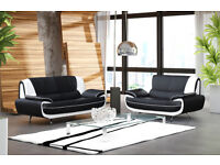 High Quality PU Leather 3 and 2 Seater Sofa Suite - Brandnew