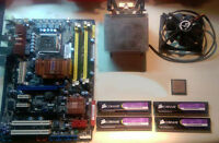 ASUS Motherboard + Intel Quad Core + 8GB DDR2 RAM combo sale