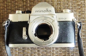 Vintage Minolta SR-3 Film Camera with lens (for parts)