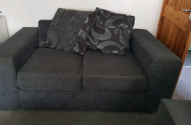 2 seater and 3 seater sofa grey