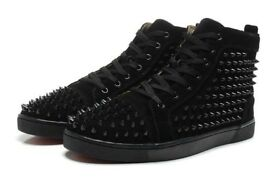 Black Christian Louboutins High Top