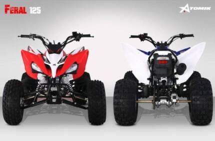 2017 ATOMIK FERAL 125CC ATV QUAD DIRT BIKE 4 WHEELER TRAIL RACE