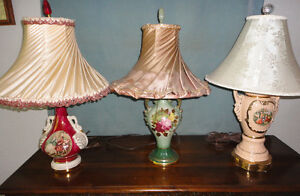 Vintage Table Lamps - $15.00 each