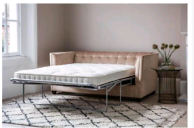 Brand new in packaging velvet fold out sofa RRP £1,657 from Wayfair