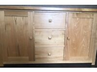 Contemporary Solid Oak Sideboard, Can deliver locally if needed!