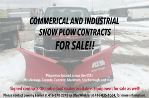 SNOW PLOW CONTRACTS FOR SALE!! COMMERCIAL & INDUSTRIAL!!