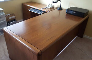 Solid Oak 4pce Office Furniture