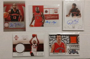 Former Toronto Raptors Autographed and Jersey Cards