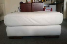 white stool/ leg rest