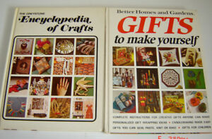 Terrific Hardcover Vintage Books - How To Make Gifts and Crafts