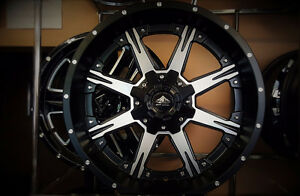 NEW! 20 INCH black/machined - F150 F250 F350 1500 2500 3500 CHEV