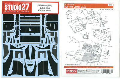 STUDIO27 1/20 Tyrrell 020 Carbon decal for Tamiya CD20049 Decal F/S