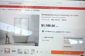 Freestanding Bath Tub (Brand New in Box)
