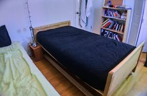 Single Captain's Bed Solid Maple