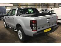 2015 SILVER FORD RANGER 3.2 TDCI 200 WILDTRACK 4WD CREW CAB CAR FINANCE FR 67 PW