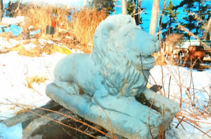 Looking to buy a large concrete lion.