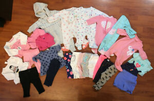 Baby girl 3 month clothing lot