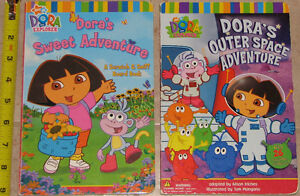 Qty 2 x Large Dora Sweet & Outerspace Adventure BOARD Books