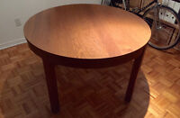 Ikea Dining table BJURSTA (Extendable table). Color Brown.
