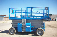 2002 Genie 4390 4X4 Scissor Lift - Axiom Lift Equipment