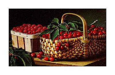 L. W. Prentice Still Life with Berries Poster Kunstdruck Bild 43x66cm