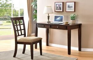 NEW ★ Solid wood Desk with 2 Drawers + Chair ★ Can Deliver