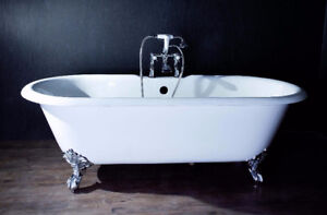 Clawfoot Cast Iron Double-ended Bathtub