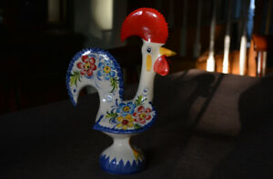 Vintage Large Handpainted Portuguese Good Luck Rooster