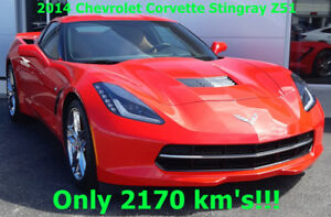 2014 Chevrolet Corvette Stingray Z51-Only 2170 Kms!!!