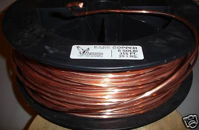 Ground Wire 6 Awg Gauge Solid Bare Copper 100a Service