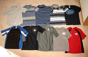 Shirts sz S, M,  Shorts sz 28, Jeans sz 30, Dress Shirts 14.5,15